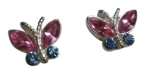 Target Silver Butterfly with pink and blue wings