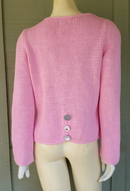 Pure Energy Sparkly Cotton Pockets Buttons Cardigan