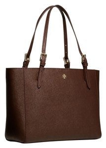 Tory Burch Tote in dark walnut/gold