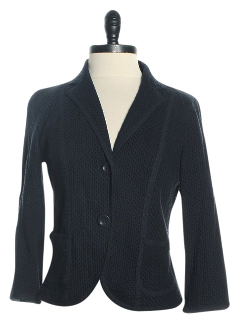 Preload https://item5.tradesy.com/images/gap-navy-textured-and-fitted-blazer-size-4-s-1365664-0-0.jpg?width=400&height=650