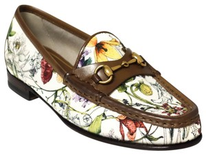 Gucci 309717 Loafer Mini Flora Horsebit Multicolor Flats