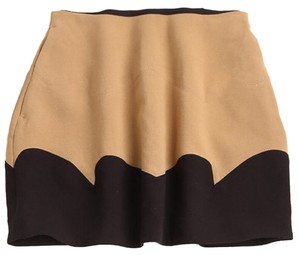 Miu Miu Two Tone Mini Mini Skirt