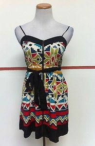 Just Ginger short dress Multi-Color Aztec Geometric Zip Up Sundress D521 on Tradesy