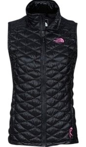 The North Face The North Face Women's Black Quilted Vest Breast Cancer Awareness