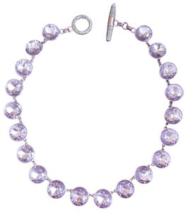 Juicy Couture Juicy Couture Purple Lilac Gemstones Pave Necklace