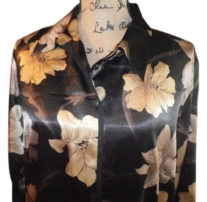 Covington Top BLACK/TAN FLORAL