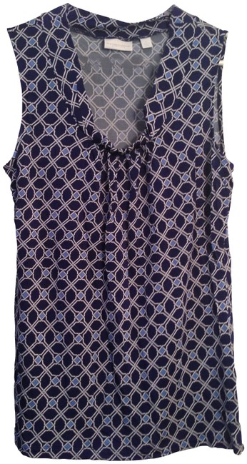 Preload https://item2.tradesy.com/images/new-york-and-company-blue-pattern-sexy-trendy-night-out-office-blouse-size-16-xl-plus-0x-136621-0-0.jpg?width=400&height=650