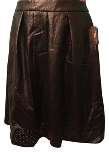 Worthington Perforated Pleated Pockets Skirt Black