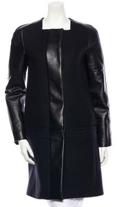 Gucci Leather Wool Cashmere Coat