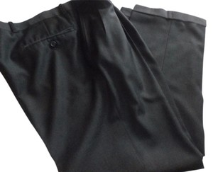 ALAN FLUSSER Alan Flusser Black Pleated Front Dress Pants Men's Sz 36X30