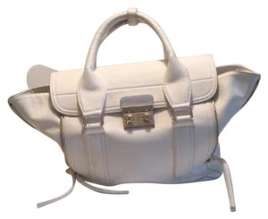 JustFab Midtown Satchel in White