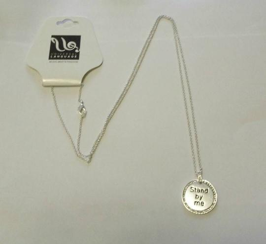 Other UNIVERSAL LANGUAGE Crystal Stand By Me Necklace Length 30 in. NEW $59