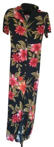 RED & BLACK FLORAL Maxi Dress by Arizona Jeans Company Tall 6 Tall