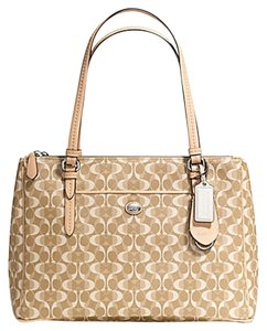 Coach Handbags Classic Handbags Tan Peyton Shoulder Bag