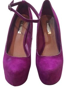 Halston Purple Platforms