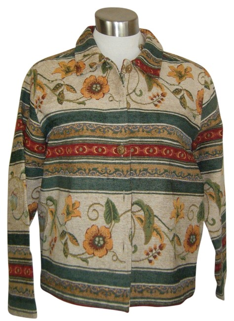 Preload https://item3.tradesy.com/images/bfa-classics-beige-green-and-burgundy-multi-xl-nwot-tapestry-unlined-autumn-colors-size-18-xl-plus-0-1366432-0-0.jpg?width=400&height=650