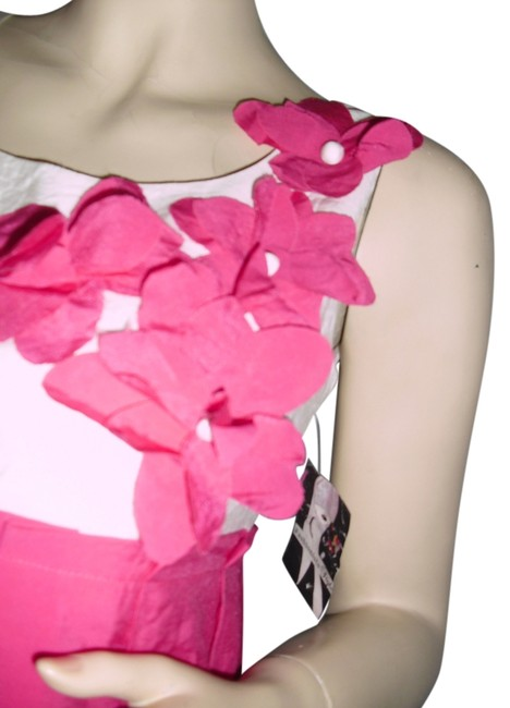 Item - Rose Pink In Hongkong Cotton Floral Cutout Appliques Above Knee Cocktail Dress Size 8 (M)