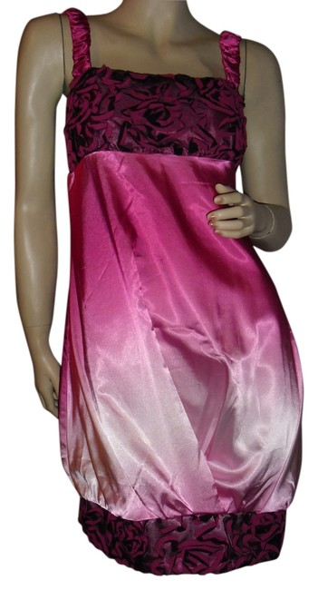 Item - Ombre Rose Pink Shades Of Above Knee Cocktail Dress Size 12 (L)