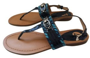 Coach Blue Turquoise Sandals
