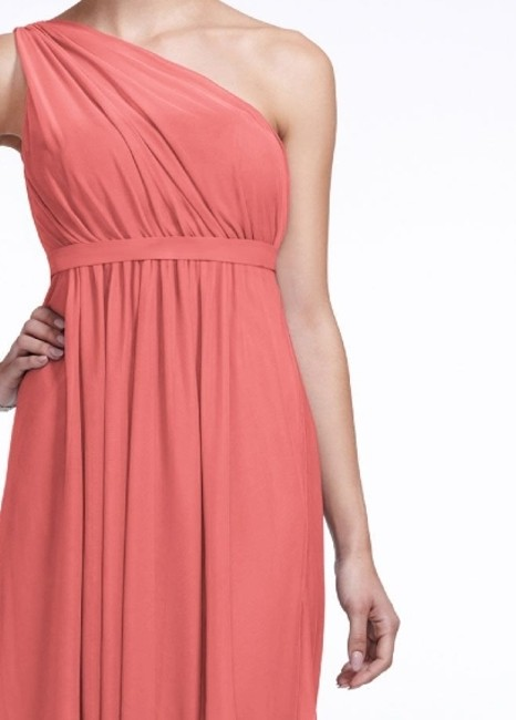 Item - Coral Reef Imported Polyester One Shoulder Short Illusion Neckline- Style F15607 Casual Bridesmaid/Mob Dress Size 12 (L)