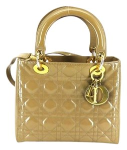 Dior Quilted Cannage Satchel in Beige