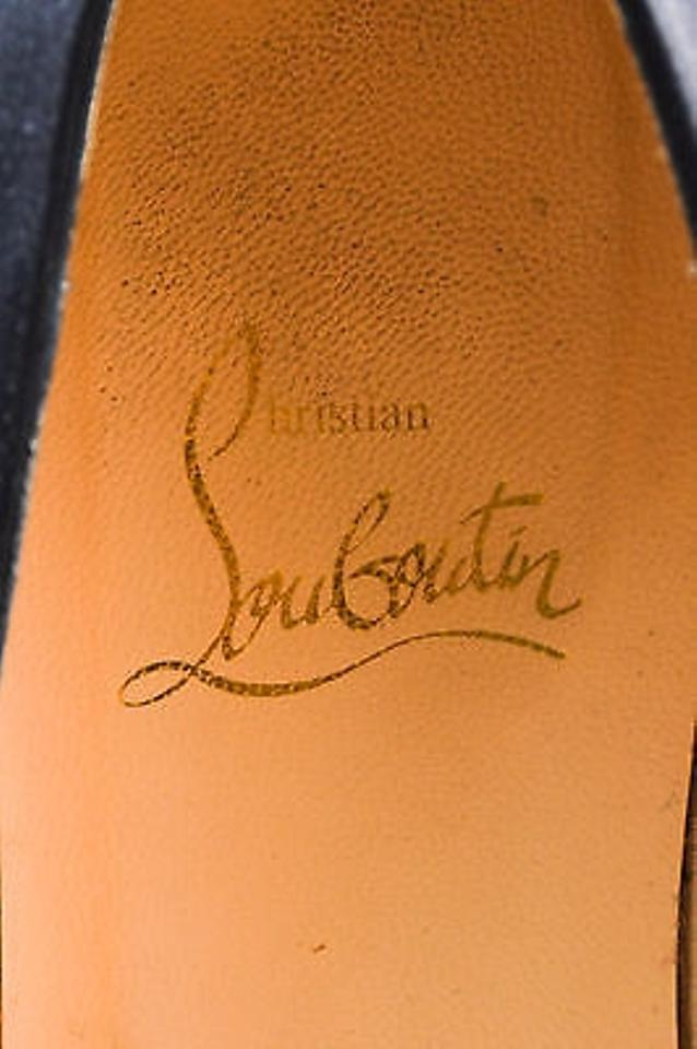 christian louboutin square-toe satin mules