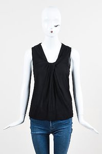 Etro Scoop Neck Jersey Top Black