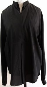 Gucci 362045 Long Sleeve Double 100 Silk Shirt Top Black