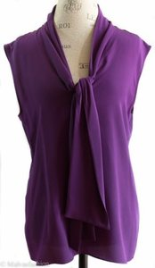 Gucci 362047 Sleeveless 100 Silk 38g Top Violet