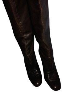 Calvin Klein Leather Knee High Boot Espresso Brown Boots