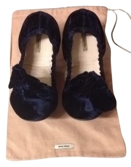 Miu Miu midnight blue Flats