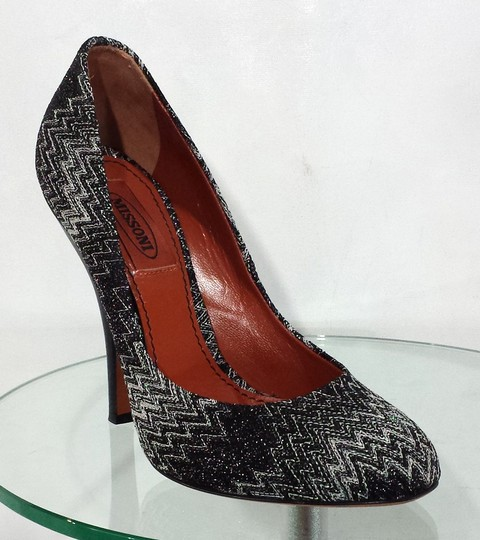 Missoni Knit Black/White Pumps
