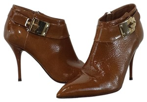 Cesare Paciotti Patent Leather Brown Boots
