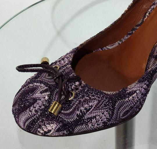 Missoni Leather Purple Metallic/Ivory Pumps