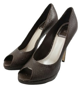 Christian Dior Peep Toe Brown Pumps