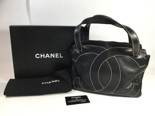 Chanel Caviar Leather Giant Double C Shoulder Bag