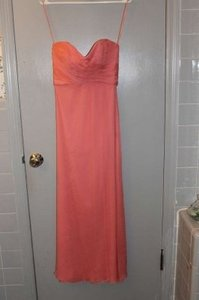 Amsale Guava Chiffon G629c Formal Bridesmaid/Mob Dress Size 0 (XS)
