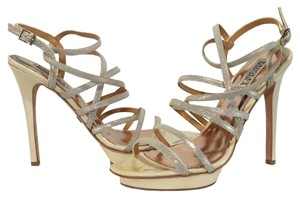 Badgley Mischka Shimmer Cream/Metallic Formal