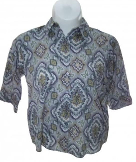 Preload https://item2.tradesy.com/images/bonworth-multi-color-medium-greens-floral-paisley-pattern-34-sleeve-button-down-top-size-petite-10-m-136691-0-0.jpg?width=400&height=650