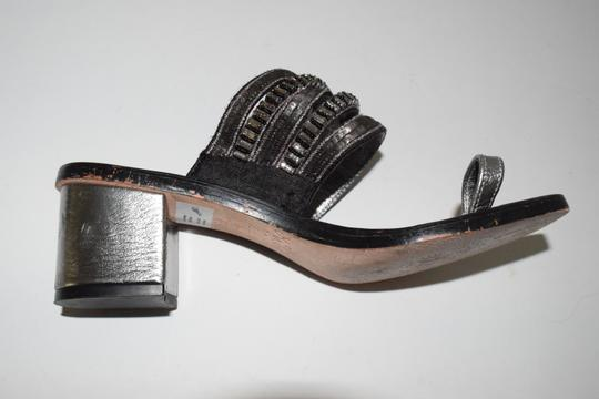 Other Glam Chunky Heel Chic Casual Sparkle Vintage gold, silver Sandals