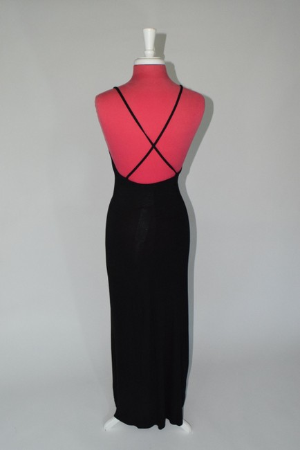 black Maxi Dress by Other Maxi Lowback Day To Night Soft Easy To Wear