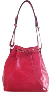 Louis Vuitton Drawstring Petit Noe Epi Leather Shoulder Bag