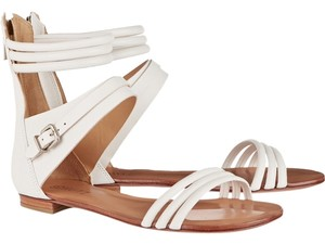 SCHUTZ Boho Leather Silver Hardware Festival Pearl Sandals