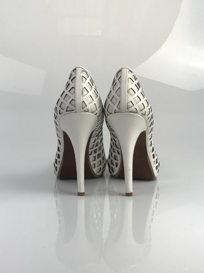 No. 704b Leather White Pumps