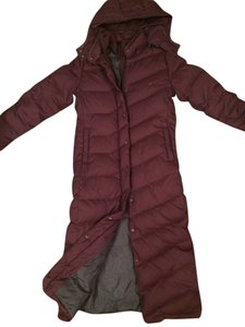 Brooklyn Industries Down Down Winter Jacquet Winter Winter Hooded Full Length Warm Chevron Quilting Coat