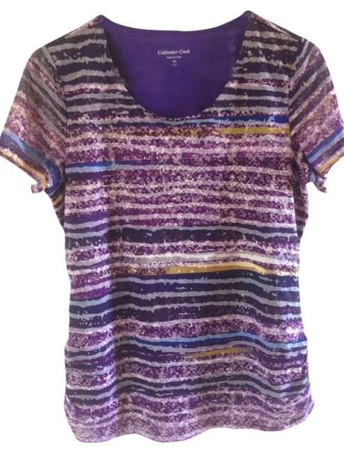 Preload https://item1.tradesy.com/images/coldwater-creek-purple-tee-shirt-size-4-s-1367040-0-0.jpg?width=400&height=650