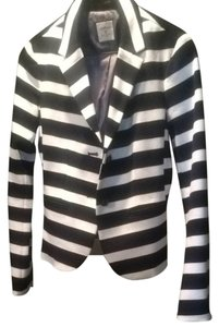 Gap Black And White Wide Stripe Blazer