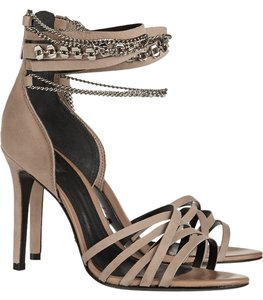 SCHUTZ Silver Hardware Night Out Date Night Strappy Oyster Sandals