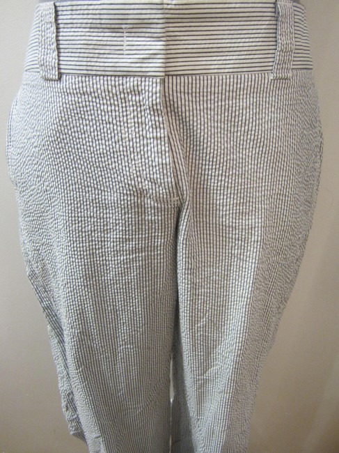 J.Crew Wide Leg Pants White and blue pinstripe