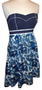 Kimchi Blue short dress Blue Multi Colors Urban Outfitters Strapless Size 6 on Tradesy